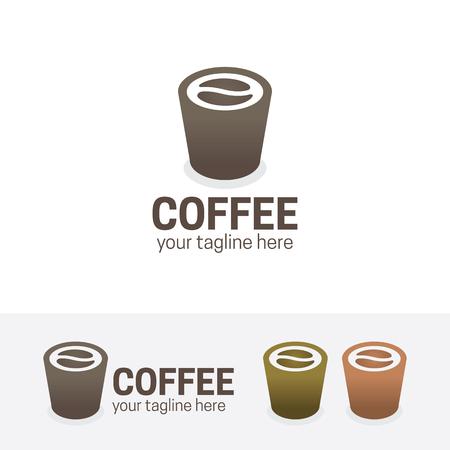 coffee beans: Coffee shop logo, drink, bean, cafe, vector logo template.