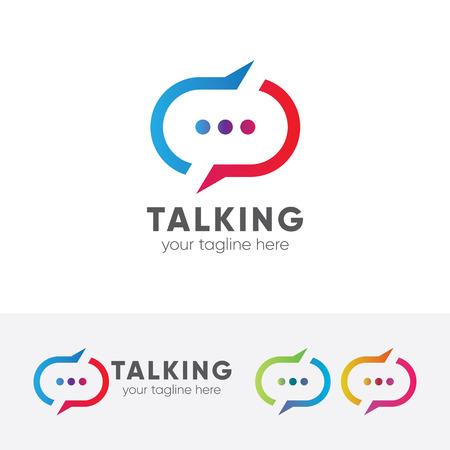 Talking vector template.