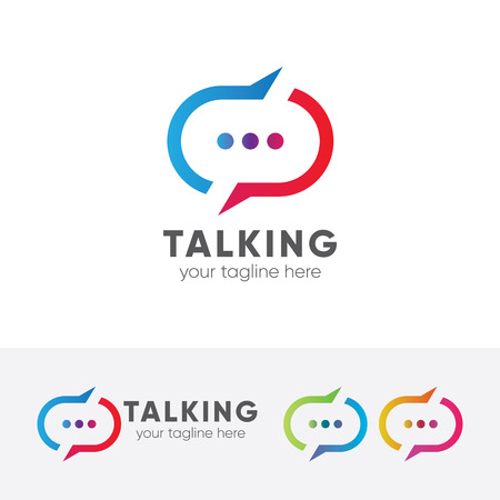 Talking vector template.