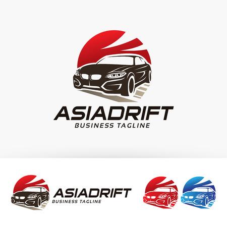 Asian drift vector template Ilustração