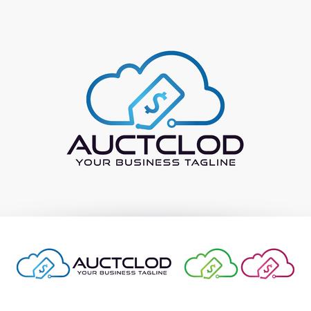 Auction cloud vector template