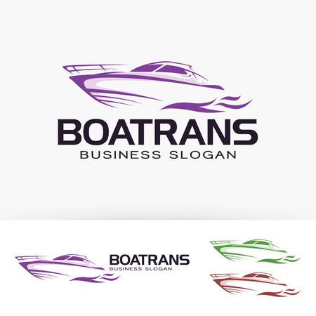 Boat transportation business slogan vector template Illustration