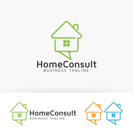 House consulting icon design