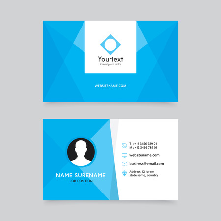 Elegant clean blue business card design vector modern creative elegant clean blue business card design vector modern creative and clean business card template cheaphphosting Gallery