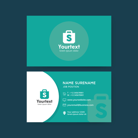 Vector modern creative and clean business card template flat vector vector modern creative and clean business card template flat simple business card design with shopping symbol business card vector template fbccfo Choice Image
