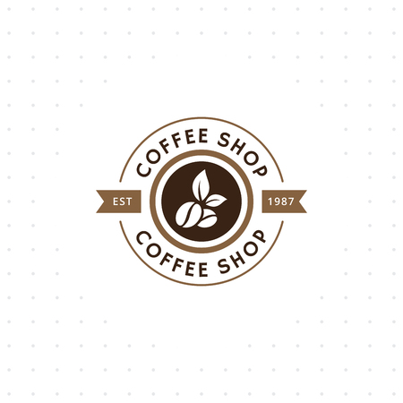Vintage vector koffie logo en label. Koffie logo sjabloon. Cafeïne logo. Retro vintage insignes. Retro koffie badge. Vector illustratie