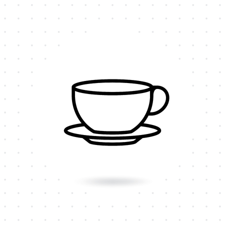 Tea cup icon. Coffee cup icons in line style design. Hot drink vector illustration