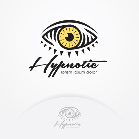 Eye logo design vector template. Eye symbol of magic and hypnotist. Creative vision logotype concept. Eye emblem design - Vector illustration