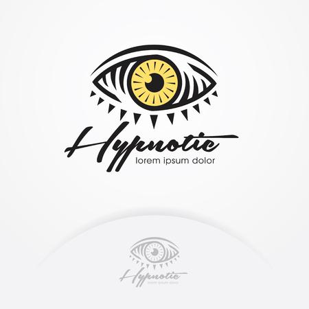 Eye logo design vector template. Eye symbol of magic and hypnotist. Creative vision logotype concept. Eye emblem design - Vector illustration