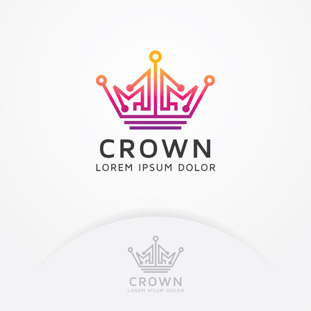 Colored crown icon design