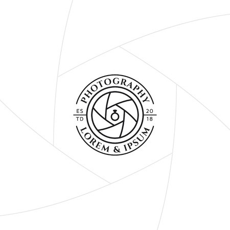 Wedding photography badge or label design