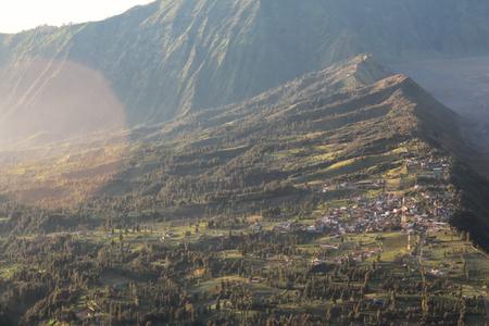 Cemoro lawang village at mount Bromo in Bromo tengger semeru national park, East Java, Indonesia