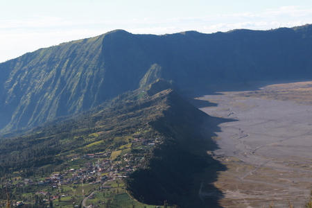 Bromo Mountain in Tengger National Park, East Java, Indonesia Stock Photo