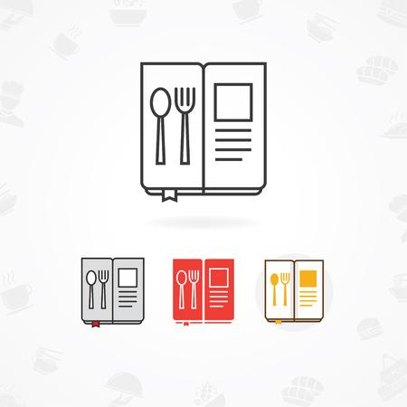 Menu icon, Restaurant menu icon Illustration