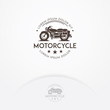 Classic motorcycle logo design, Vintage cafe racer motorcycle logo. Garage and transportation logo template Stok Fotoğraf - 105717245