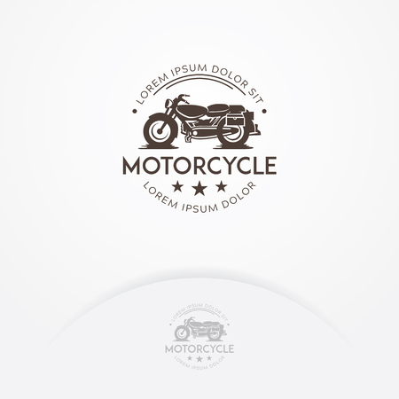 Classic motorcycle logo design, Vintage cafe racer motorcycle logo. Garage and transportation logo template