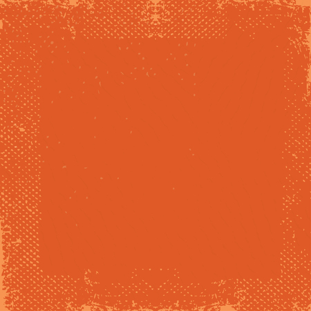 Abstract vector grunge background. Vector of grunge background with space for text. Dark orange grunge vintage old paper background