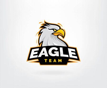 Hawk head mascot vector logo. Eagle esport gaming logo design, Eagles team sport badge design