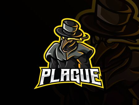 Plague mascot sport design. Иллюстрация