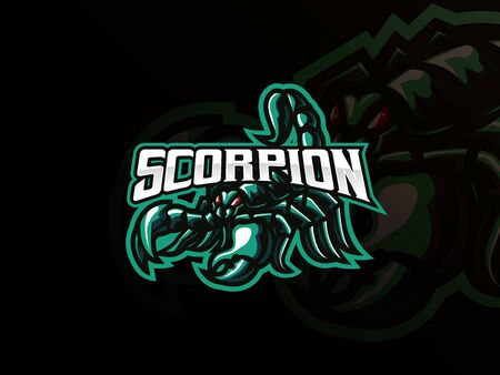 Scorpion mascot sport icon design.