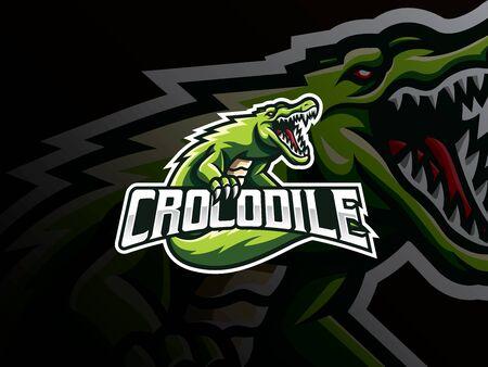 Crocodile mascot sport design.
