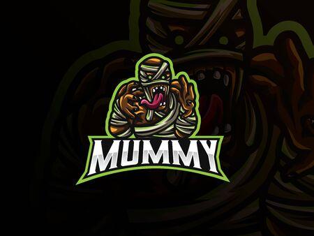 Mummy sport icon design.
