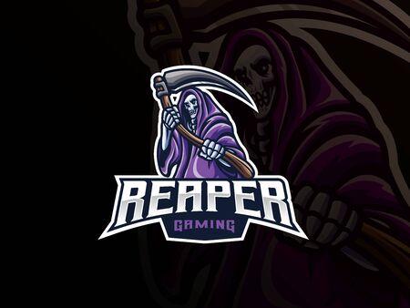 Grim reaper mascot sport design.
