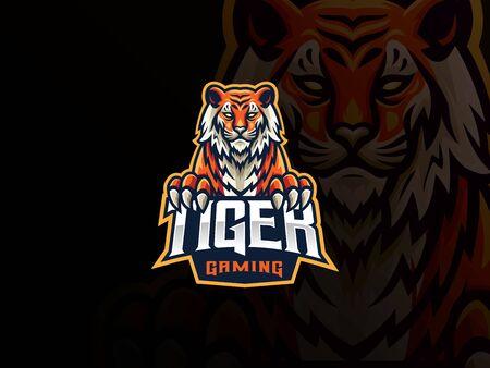 Tiger mascot sport design.