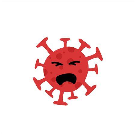 Corona virus expression, happy, angry, terrible, and sad. Coronavirus vector illustration with facial expression big set isolated. Vectores