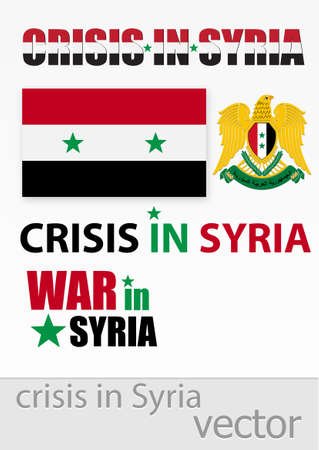 The crisis and the war in Syria Vector