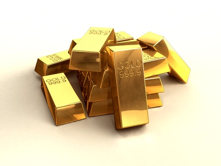 goldbar: Gold bars Stock Photo