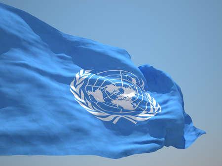 united nations: BANDERA DE LAS NACIONES UNIDAS HD Foto de archivo