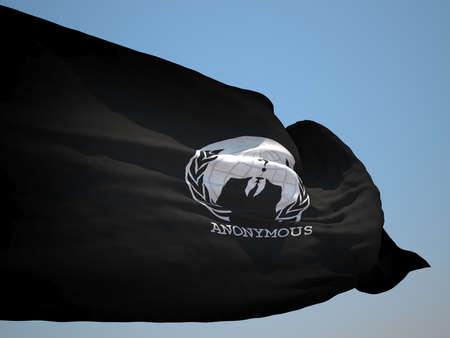 occupy wall street: Anonymous organitation flag HD