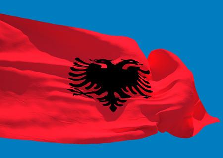 albania: Albania wave flag HD Republic of Albania