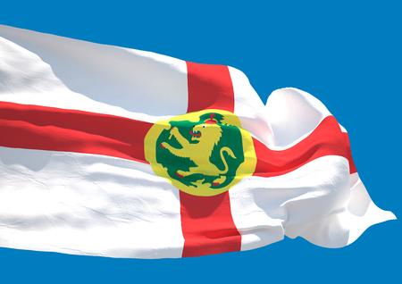 guernsey: Alderney wave flag HD Aoeurgny Anne Guernsey