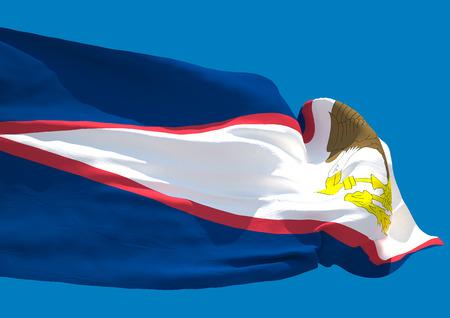samoa: American Samoa wave flag HD Territory of American Samoa
