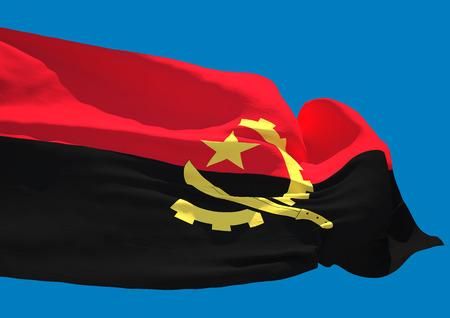 angola: Angola wave flag HD Republic of Angola
