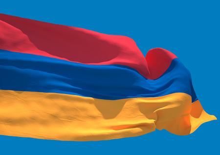yerevan: Armenia wave flag HD Republic of Armenia Stock Photo
