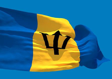 barbadian: Barbados wave flag HD island country Bridgetown Stock Photo