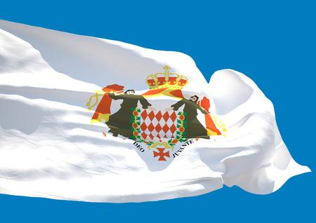 blason: Blason de Monaco wave flag HD Principality of Monaco