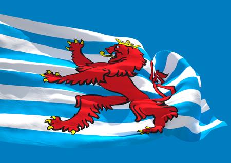 blason: Blason Luxembourg wave flag HD Grand Duchy of Luxembourg