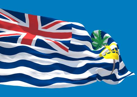 indian ocean: British indian ocean territories wave flag HD Stock Photo