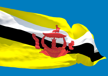 nation: Brunei wave flag HD Nation of Brunei, Abode of Peace Stock Photo