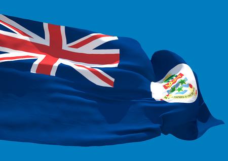 overseas: Cayman islands wave flag HD British Overseas Territory
