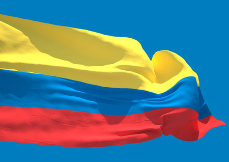 republic of colombia: Colombia wave flag HD Republic of Colombia