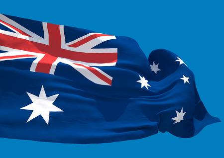 sidney: Australia wave flag HD Commonwealth of Australia Stock Photo