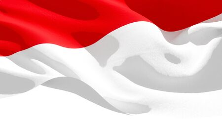 Republic of Indonesia waving national flag. 3D illustration Stockfoto