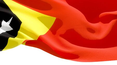 Democratic Republic of Timor waving national flag. 3D illustration Stockfoto