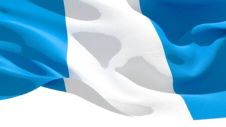 Republic of Guatemala waving national flag. 3D illustration