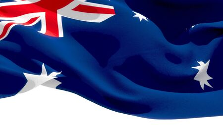Commonwealth of Australia waving national flag. 3D illustration